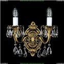 1702B/2/175/B/FP Бра с элементами художественного литья и хрусталем Bohemia Ivele Crystal