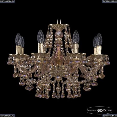 16109/8/195 G M777 Хрустальная подвесная люстра с металлической чашкой Bohemia Ivele Crystal (Богемия), 1609