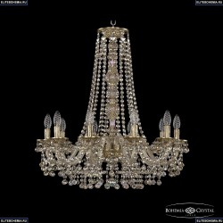 16109/10/240/h-75 FP M801 Хрустальная подвесная люстра с металлической чашкой Bohemia Ivele Crystal