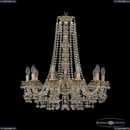 16109/10/240/h-75 FP M801 Хрустальная подвесная люстра с металлической чашкой Bohemia Ivele Crystal (Богемия), 1609