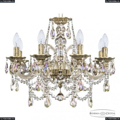 16111/8/195 FP M801 Хрустальная подвесная люстра с металлической чашкой Bohemia Ivele Crystal (Богемия), 1611