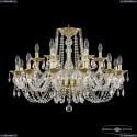 16102/12+6/300 G Хрустальная подвесная люстра с металлической чашкой Bohemia Ivele Crystal