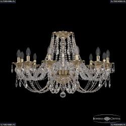 16106/12/300 G Хрустальная подвесная люстра с металлической чашкой Bohemia Ivele Crystal