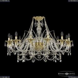 16111/12/360 G Хрустальная подвесная люстра с металлической чашкой Bohemia Ivele Crystal