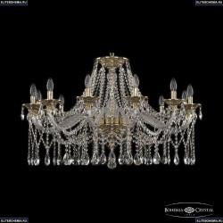 16113/12/360 G Хрустальная подвесная люстра с металлической чашкой Bohemia Ivele Crystal (Богемия), 1613