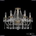16113/6/200 G Хрустальная подвесная люстра с металлической чашкой Bohemia Ivele Crystal