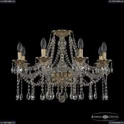 16113/8/240 G Хрустальная подвесная люстра с металлической чашкой Bohemia Ivele Crystal