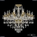 16115/12+6/300 FP Хрустальная подвесная люстра с металлической чашкой Bohemia Ivele Crystal (Богемия), 1615