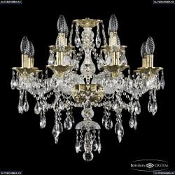 16115/8+4/200 G Хрустальная подвесная люстра с металлической чашкой Bohemia Ivele Crystal (Богемия), 1615