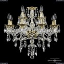 16115/8+4/200 G Хрустальная подвесная люстра с металлической чашкой Bohemia Ivele Crystal