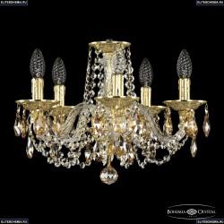 16102/5/141 G K721 Хрустальная подвесная люстра с металлической чашкой Bohemia Ivele Crystal (Богемия), 1602