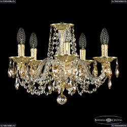 16102/5/141 G K721 Хрустальная подвесная люстра с металлической чашкой Bohemia Ivele Crystal