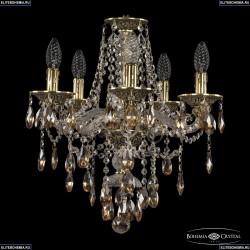 16115/5/141 GB K721 Хрустальная подвесная люстра с металлической чашкой Bohemia Ivele Crystal (Богемия), 1615