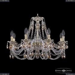 16106/8/240 GW K721 Хрустальная подвесная люстра с металлической чашкой Bohemia Ivele Crystal