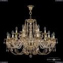 16106/12+6/300 G R721 Хрустальная подвесная люстра с металлической чашкой Bohemia Ivele Crystal