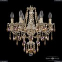 16115/6/165 GW R777 Хрустальная подвесная люстра с металлической чашкой Bohemia Ivele Crystal (Богемия), 1615