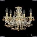 16109/5/141 GW K777 Хрустальная подвесная люстра с металлической чашкой Bohemia Ivele Crystal (Богемия), 1609