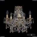 16111/5/141 G K801 Хрустальная подвесная люстра с металлической чашкой Bohemia Ivele Crystal