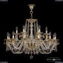 16102/12+6/300 G R801 Хрустальная подвесная люстра с металлической чашкой Bohemia Ivele Crystal