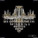 16115/12/300 FP R801 Хрустальная подвесная люстра с металлической чашкой Bohemia Ivele Crystal (Богемия), 1615