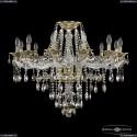 16115/12/300 FP R801 Хрустальная подвесная люстра с металлической чашкой Bohemia Ivele Crystal