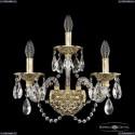 16102B/2+1/165/XL G Хрустальное бра с металлической чашкой Bohemia Ivele Crystal