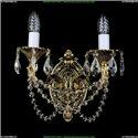 1702B/2/175/C/GB Бра с элементами художественного литья и хрусталем Bohemia Ivele Crystal