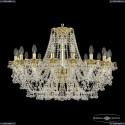 16109/16/300 G Хрустальная подвесная люстра с металлической чашкой Bohemia Ivele Crystal