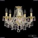16110/5/141 G V7010 Хрустальная подвесная люстра с металлической чашкой Bohemia Ivele Crystal