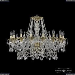 16111/16/300 G Хрустальная подвесная люстра с металлической чашкой Bohemia Ivele Crystal (Богемия), 1611
