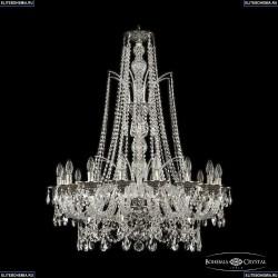 16111/16/300/XL-108 NB Хрустальная подвесная люстра с металлической чашкой Bohemia Ivele Crystal (Богемия), 1611