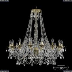 16111/16/360/h-100 G Хрустальная подвесная люстра с металлической чашкой Bohemia Ivele Crystal (Богемия), 1611