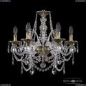 16111/6/165 GB Хрустальная подвесная люстра с металлической чашкой Bohemia Ivele Crystal (Богемия), 1611