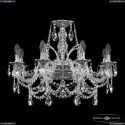 16111/8/240 NB Хрустальная подвесная люстра с металлической чашкой Bohemia Ivele Crystal