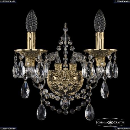 16111B/2/141 G Хрустальное бра с металлической чашкой Bohemia Ivele Crystal