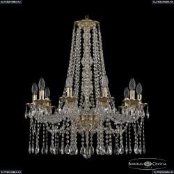 16113/10/240/h-75 G Хрустальная подвесная люстра с металлической чашкой Bohemia Ivele Crystal (Богемия), 1613