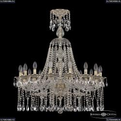 16113/16/300/XL-100 GW Хрустальная подвесная люстра с металлической чашкой Bohemia Ivele Crystal (Богемия), 1613