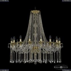 16113/16/360/H-160 G Хрустальная подвесная люстра с металлической чашкой Bohemia Ivele Crystal (Богемия), 1613