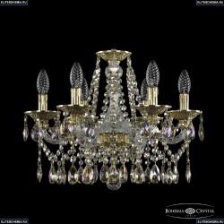 16113/6/165 G R801 Хрустальная подвесная люстра с металлической чашкой Bohemia Ivele Crystal (Богемия), 1613