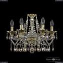 16113/6/165 G R801 Хрустальная подвесная люстра с металлической чашкой Bohemia Ivele Crystal