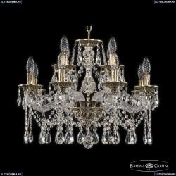 16113/8+4/200 GB Хрустальная подвесная люстра с металлической чашкой Bohemia Ivele Crystal (Богемия), 1613