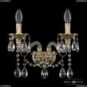 16113B/2/165 G Хрустальное бра с металлической чашкой Bohemia Ivele Crystal