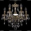 1702/6/CK125IV/B/GI Хрустальная подвесная люстра Bohemia Ivele Crystal