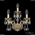 16113B/2+1/141 G Хрустальное бра с металлической чашкой Bohemia Ivele Crystal