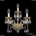 16113B/2+1/165 G Хрустальное бра с металлической чашкой Bohemia Ivele Crystal (Богемия), 1611