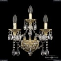 16113B/2+1/165 G Хрустальное бра с металлической чашкой Bohemia Ivele Crystal