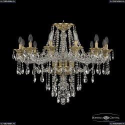 16115/12/300 FP Хрустальная подвесная люстра с металлической чашкой Bohemia Ivele Crystal (Богемия), 1615