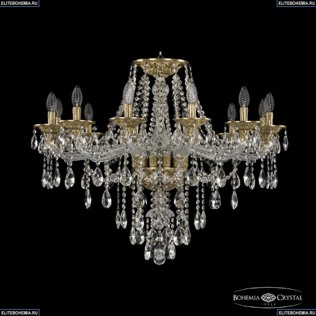 16115/12/300 FP Хрустальная подвесная люстра с металлической чашкой Bohemia Ivele Crystal