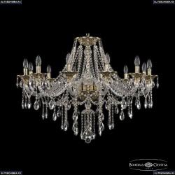 16115/12/360 G Хрустальная подвесная люстра с металлической чашкой Bohemia Ivele Crystal