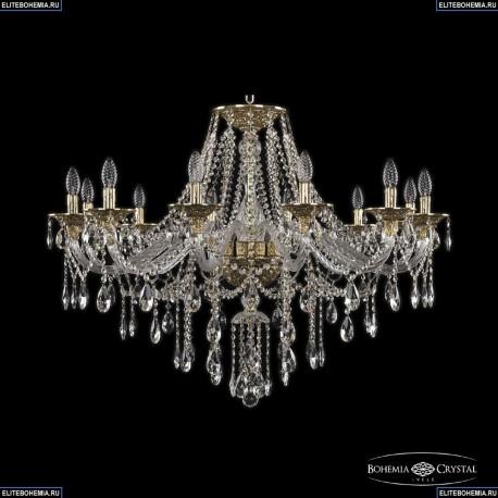 16115/12/360 G Хрустальная подвесная люстра с металлической чашкой Bohemia Ivele Crystal (Богемия), 1615